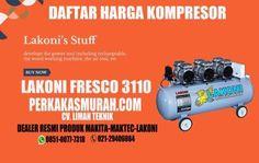 harga-kompresor-lakoni-fresco-3110-oilless-tanpa-oli-silent-dealer-perkakas-murah-jakarta Air Compressor, Makita, Fresco, Fresh