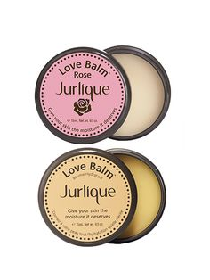 Jurlique Love Balm and Rose Love Balm There's absolutely nothing sexy about chapped lips. These natural balms can be used on dry elbows, feet, hands—pretty much anywhere—but we like them best for lips. They moisturize with olive oil and safflower-seed oil and smell faintly of citrus and roses, respectively. You'll want to keep reapplying them again and again (even though they're so effective you won't need to).