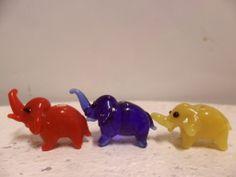 Three in a Row. Vintage Ornaments, The Row, Dinosaur Stuffed Animal, Miniatures, Dolls, Animals, Home Decor, Baby Dolls, Animales