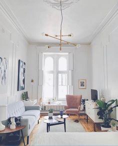 Delicate Tiny Apartment Design Ideas That Are So Inspiring 17 Studio Apartment Decorating, Apartment Interior Design, Apartment Furniture, Living Room Interior, Modern Interior Design, Home Design, Apartment Living, Living Room Decor, Design Ideas
