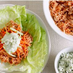 Crock Pot Buffalo Chicken Lettuce Wraps | Wholesome Recipes