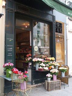 Flower shop in Paris.
