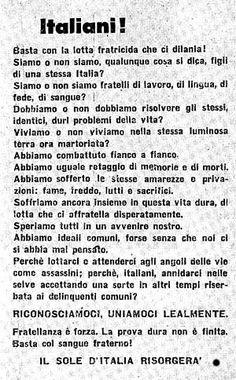 FASCISMO - NASCE LA REPUBBLICA SOCIALE DI SALO' Ex Libris, World War Two, Aldo, Happiness, Let It Be, History, Poster, Violin, Italia