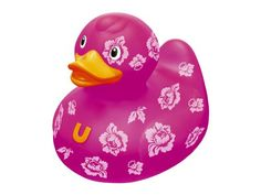 Bud Rubber Luxury Duck Bath Tub Toy, Rose