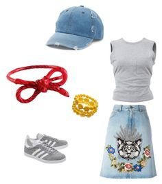 """""""casual weekend"""" by melziggy-mb on Polyvore featuring Gucci, T By Alexander Wang, adidas Originals, Mudd and SCP"""