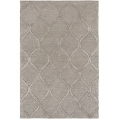 Featuring a trellis print in gray, this hand-tufted wool rug lends a touch of pattern to your living room or entryway.  Joss & Main