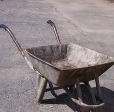 Repair old wheelbarrow