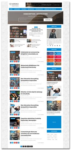 Top 60 Best Free Responsive Blogger Templates 2018 | Pinterest ...