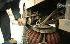 Cable enredado en la barredora