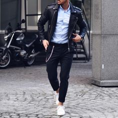 Leather Jacket Outfit Ideas For Men