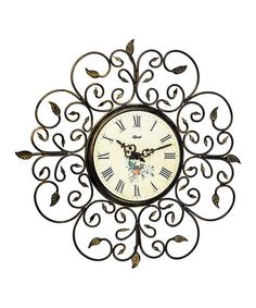 Look what I found on #zulily! Roses Clock #zulilyfinds