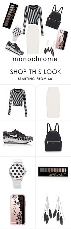 """""""monocrome"""" by manisninis ❤ liked on Polyvore featuring STELLA McCARTNEY, NIKE, Henri Bendel, Forever 21, Casetify and Charlotte Russe"""