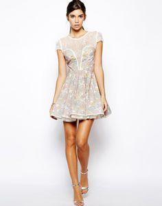 Jones & Jones Carly Liberty Print Dress with Lace Bodice