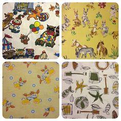 Children's vintage fabrics