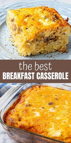 Every time I make this for brunch, it is the first dish to disappear and people beg for the recipe! This Hash Brown Breakfast Casserole is a MUST make for any gathering! #breakfastcasserole Overnight Hashbrown Breakfast Casserole, Gluten Free Breakfast Casserole, Breakfast Recipes, Gluten Free Recipes For Lunch, Vegan Recipes Easy, Kitchen Recipes, Cooking Recipes, Kitchen Hacks, Appetizer Recipes