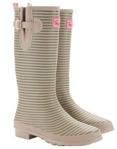 WellyPrint Rain Boots - Rose Stripe | 16, On and Return
