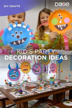 Decorating the house can be just as fun as the party itself. Kids will have a blast turning Dixie® paper plates into friendly-faced monster-themed decorations. Get more DIY inspiration at dixie.com.