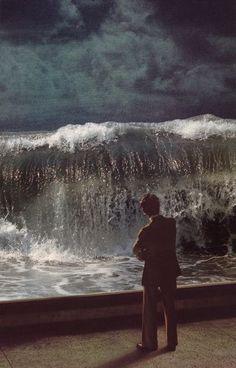 """Sea Wall"" by beth hoeckel :: collage"
