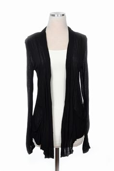 Get comfortable in our Red Eye Cardigan! A light weight open front cardigan with pockets. Throw this cardigan over any casual top for extra warmth!