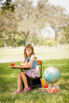 Vintage inspired Back to school photo shoot.