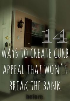 if you are looking for ways to update your curb appeal you have to pin this link! so many tips to accomplish on a budget.