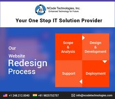 Thinking to redesign your website? Choose NCode Technologies, Inc. for your website redesign project. Our website redesign services will enhance the look and feel of your site and increase ROI with more conversions.