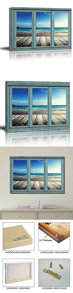 Posters and Prints 41511: [Framed] Vintage View Blue Ocean Sea Picture Wall Art Canvas Prints Home Decor -> BUY IT NOW ONLY: $47.85 on eBay!