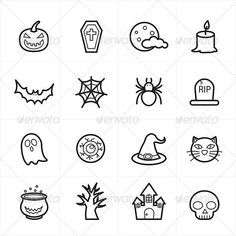 Buy Flat Line Icons For Halloween Icons by karawan on GraphicRiver. Flat Line Icons For Halloween Icons Vector Illustration Spooky Tattoos, 13 Tattoos, Knuckle Tattoos, Mini Tattoos, Finger Tattoos, Small Tattoos, Makeup Tattoos, Halloween Doodle, Halloween Icons
