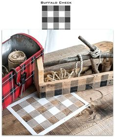 Create a cabin farmhouse inspired Buffalo Check pattern on anything you wish with this stencil! Funky Junk's Old Sign Stencils Sign Stencils, Stencil Diy, Antique Signs, Vintage Signs, Funky Junk Interiors, Thing 1, Old Signs, Cozy Cabin, Buffalo Check
