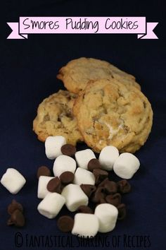 S'mores Pudding Cookies   www.fantasticalsharing.com  #smores #cookies #dessert
