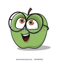 Cute Apple illustration, Sweet fruit character design