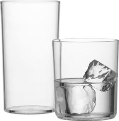 big gulp. Glass-like glasses open wide, party hard (really, they're practically indestructible) in clear acrylic.AcrylicHand washMade in China