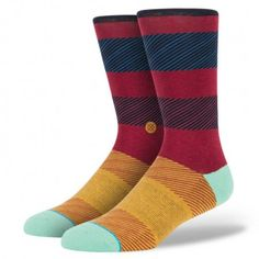 """When it comes to comfort and style, Stance's Wagner is an overachiever. To offer an especially plush ride, the sock features luxurious combed cotton and a rein Funky Socks, Crazy Socks, Colorful Socks, Cool Socks For Men, Uncommon Threads, Crossfit Clothes, Stance Socks, Dress Socks, Women's Socks"