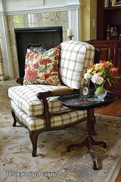 Reupholstered Living Room Chair