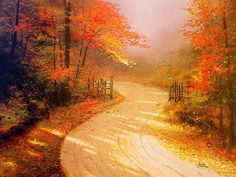 Thomas Kinkade Autumn | Thomas Kinkade Autumn Paintings