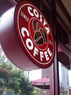 Costa Coffee Coffee Girl, I Love Coffee, Coffee Break, Morning Coffee, Cafe Express, Apple Cup, Costa Coffee, Coffee Shot, Cafe Restaurant
