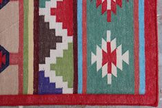 Handmade KILIM Cotton Dhurrie Rug Custom Sizes Kilim Rug