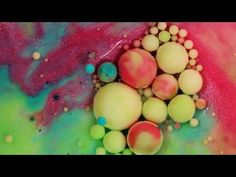 The Beautiful Beads of Color That Form From the Mixture of Common Ingredients Under a Macro Lens