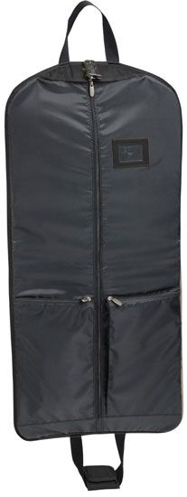 """""""45"""""""" Slim Garment Bag - Black"""": This slim garment bag with shoe and accessory pockets from Wally Bags is… #Hotels #CheapHotels #CheapHotel"""