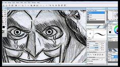Arte final no paint  tool sai - Batman - Miguel Rude