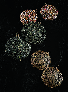 Queen Anne's lace earrings by Ted Muehling