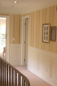 Painted Wood Paneling Wall Treatment Would Love To Do This In Our Hallway