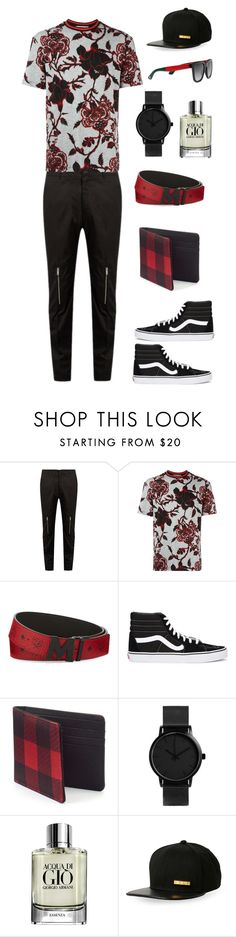 """Untitled #935"" by dress-n-dysfunktion ❤ liked on Polyvore featuring Alexander McQueen, McQ by Alexander McQueen, MCM, Vans, Urban Pipeline, Armani Beauty, Cult of Individuality, Gucci, men's fashion and menswear"