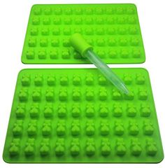 2  50 Cavity 100 Total Bears With Dropper Gummy Bear Mold for Healthy Gummie Bear Making  Green >>> You can get more details by clicking on the image.