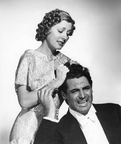 """Irene Dunne and Cary Grant - such a darling duo... great in """"My Favorite Wife"""",  a wonderful romantic comedy <3"""