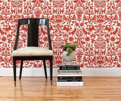 Temporary wallpapers including places where you can make your own design, and other useful temporary decorating ideas