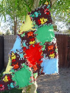 Monsters Security Blanket Ragged Quilts  Ready to Ship by AuntBugs, $18.00