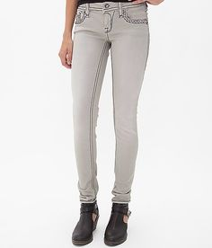 Rock Revival Claudia Skinny Stretch Pant. Love the black stitching
