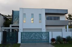 Screen Art House Exterior with main entrance gate, side gate and external architectural feature panel.  http://www.screenart.net.au