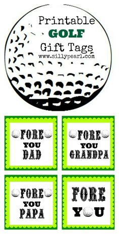 Free Printable: FORE You Golf Gift Tags | The Silly Pearl